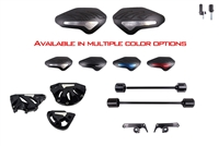 2015 - 2019 Yamaha YZF-R1 YZF-R1M No Cut Frame Front & Rear Axle Sliders Case Covers Spools