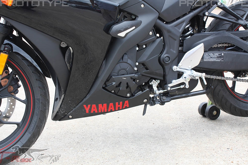 2015 - 2017 Yamaha YZF-R3 No Cut Frame Sliders