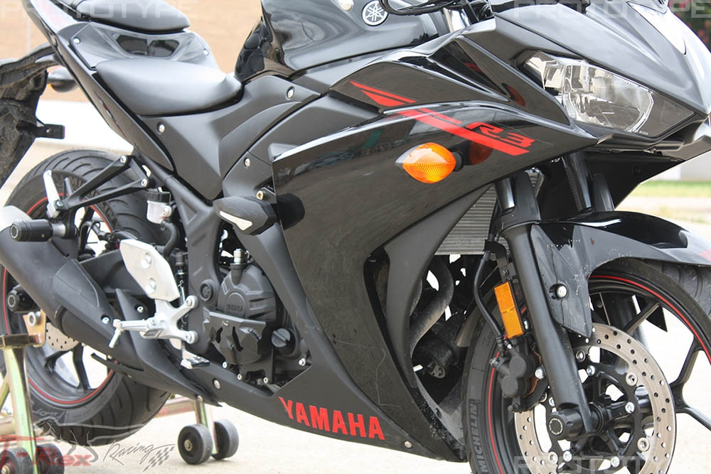 2015 - 2018 Yamaha YZF-R3 No Cut Frame Sliders