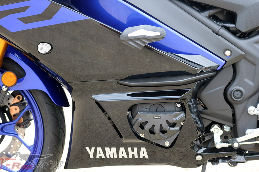Black T-Rex Racing 2015-2019 Yamaha YZF-R1 No Cut Frame Front /& Rear Axle Sliders Case Covers Spools