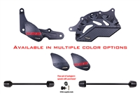 2013 - 2015 Ducati Panigale 899 / S No Cut Frame Front & Rear Axle Sliders Spools