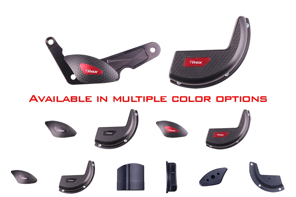 S T-Rex Racing No Cut Frame Sliders for Ducati 2013-2015 Panigale 899 Red