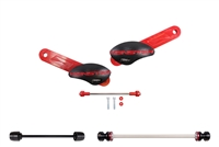 T-Rex Racing 2008 - 2014 Ducati Monster 696 No Cut Frame Front & Rear Axle Sliders