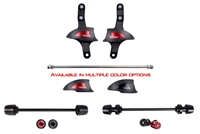 T-Rex Racing 2008 - 2016 Ducati Diavel No Cut Frame Front & Rear Axle Sliders