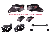 T-Rex Racing 2011 - 2019 Aprilia Tuono V4 No Cut Frame Front & Rear Axle Sliders Case Covers