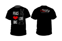 T-Rex Racing Peace Love Bike T-Shirt