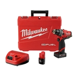 "Milwaukee 2504-22 12v 1/2"" 4.0Ah M12 FUEL Hammer Drill Kit"