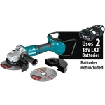 "Makita XAG12Z1 18V X2 LXT® Lithium‑Ion (36V) Brushless Cordless 7"" Paddle Switch Cut‑Of"