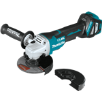 "Makita XAG21ZU 18V LXT® Lithium‑Ion Brushless Cordless 4‑1/2"" / 5"" Paddle Switch Cut‑Off/Angle Grinder with Electric Brake and AWS™, Tool Only"