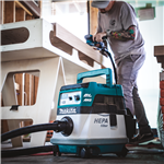 Makita XCV08Z 18V X2 LXT® Lithium‑Ion (36V) Brushless Cordless 2.1 Gallon HEPA Filter Dry Dust Extractor/Vacuum, AWS™, Tool Only