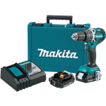 "Makita XPH12R 18V LXT® Lithium‑Ion Compact Brushless Cordless 1/2"" Hammer Driver‑Drill Kit (2.0Ah)"