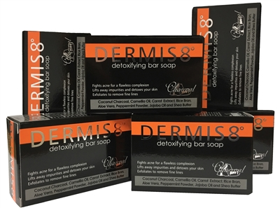 Dermis 8° Detoxifying Coconut Charcoal Soap Bar 200g (6 pack)