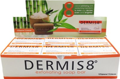 Dermis 8° Exfoliating Carrot and Jojoba Soap Bar 125g (12 pack)