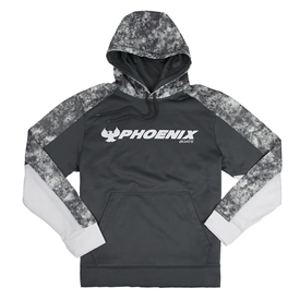 Phoenix Boats Colorblock Hoodie - Dark Smoke Grey