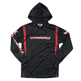 Rage Sublimated Hoodie - Black / Red
