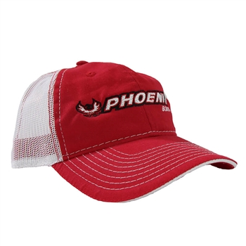 Phoenix Contrast Mesh Back Cap - Red / White