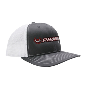 Richardson Trucker Cap - Charcoal / White