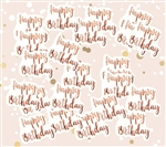 Big Size Rose Gold  Happy Birthday Confetti