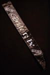 BLACK BRIDE TO BE SASH WITH CLEAR STONES