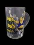'NO GUT NO GLORY' BEER GLASS