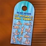 MY AGENDA IS FULL DAY DOOR HANGER