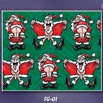 SANTA FLASHING GIFT WRAP