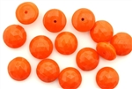 Button, Vintage, Czechoslovakian, 10MM, Round Faceted, Orange