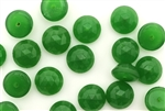 Button, Vintage, Czechoslovakian, 10MM, Round, Faceted, Dark Green