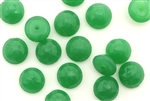 Button, Vintage, Czechoslovakian, 10MM, Round, Faceted, Green
