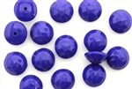 Button, Vintage, Czechoslovakian, 10MM, Round, Faceted, Blue