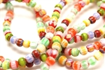 Bead, Chevron, Glass, 6MM, Round, Mixed Color