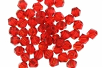 Bead, Crystal, Bicone, Faceted, 4MM, Siam Ruby