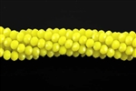 Bead, Crystal, 3MM X 4MM, Rondelle, Yellow