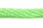 Bead, Crystal, 3MM X 4MM, Rondelle, Light Green Pastel