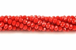 Bead, Crystal, 3MM X 4MM, Rondelle, Dark Red