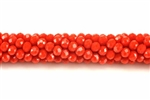 Bead, Crystal, 3MM X 4MM, Rondelle, Red