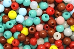 Bead, Czech, Vintage, Montessori Beads, Round, 7 & 8MM, Mixed Color