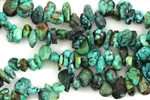 Gemstone Bead, Turquoise, Rough Cut Drop, 15MM