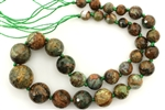 Woodland Jasper / Graduated Faceted Round