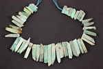Amazonite, Gemstone Bead, Graduated Stick, Slab