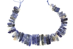 Sodalite Gemstone Bead / Graduated Stick,Slab