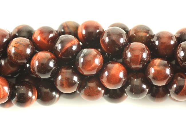 gemstone bead red tiger eye round 8mm