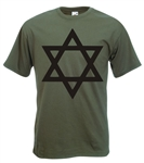"""Star Of David"" T-Shirt, Star Symbol - All Sizes & Colours"