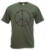 "Peace Sign T-Shirt ""Barb Wire"", Slogan, Protest, Political - All Sizes & Colours"