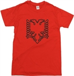 Albanian Eagle T-Shirt - 2 Headed Eagle Flag, Albania, S-XXL, Various Colours, Tshirt top