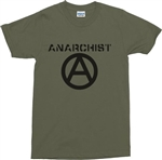 Anarchist Logo T-Shirt - S-XXL, Anarchy Is Order, Various Colours, punk, Protest, Retro Tshirt top