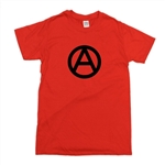 Anarchy Is Order Symbol Unisex T-Shirt - Various Colours, 1970s, punk, rock, protest, political, Anarchist, Socialist, Top, Tee