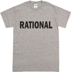 Rational T-Shirt - As Worn By Iggy Pop, Punk, Rock, Stooges, Top, Retro, 1960s, 1970s