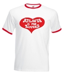 Atlanta Is For Lovers Ringer T-Shirt - As Worn By Joe Cocker, 60's, 70's, S-XXL, Rock & Roll, Retro, Vintage Style, Counter Culture, Tshirt Top