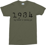 1984 'Big Brother Is Watching You' T-Shirt - Various Colours, George Orwell, Retro, Tshirt Top